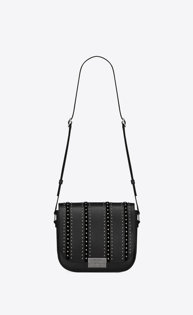 SAINT LAURENT Betty Woman betty satchel in leather suede and studs a_V4