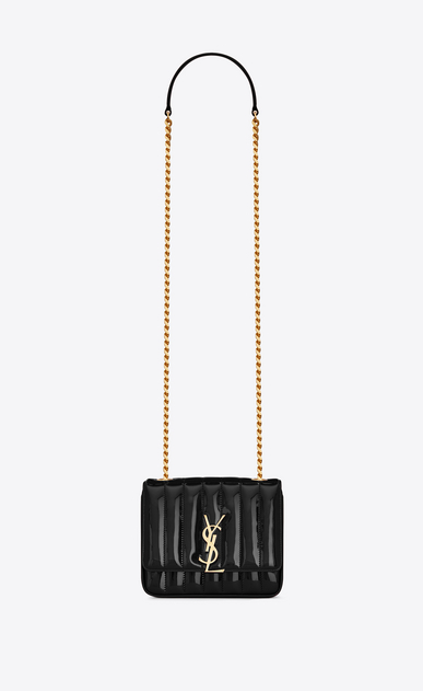 SAINT LAURENT Vicky Woman vicky small in matelassé patent leather a_V4
