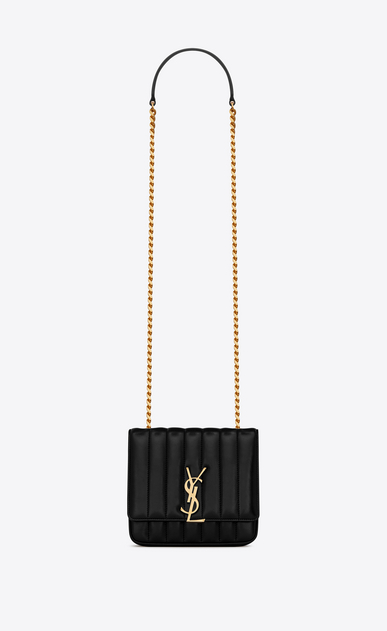 SAINT LAURENT Vicky Woman vicky small in matelassé lambskin a_V4