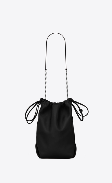 SAINT LAURENT Bucket Bag Damen TEDDY Tasche aus schwarzem Leder b_V4