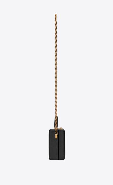 SAINT LAURENT YSL BOX Damen NAN Boxtasche aus schwarzem Leder mit Steppnähten b_V4