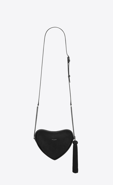 SAINT LAURENT Love Bag Woman monogram heart cross body bag in smooth leather b_V4