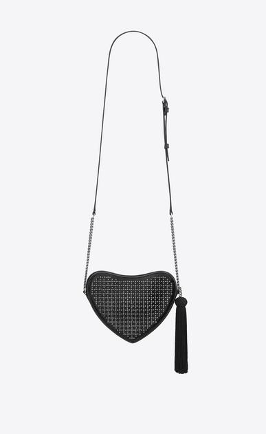 SAINT LAURENT Love Bag レディース monogram heart cross body bag in smooth leather and eyelets b_V4