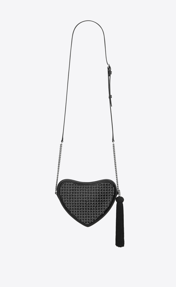 2ce826821706 Yves Saint Laurent - monogram heart cross body bag in smooth leather and  eyelets - 3