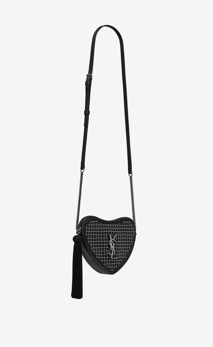b976b96fa60d Yves Saint Laurent - monogram heart cross body bag in smooth leather and  eyelets - 5