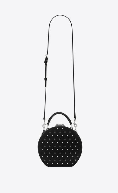 SAINT LAURENT Mini bags Damen MICA Hutboxtasche aus schwarzem Leder mit silberfarbenen Nieten a_V4