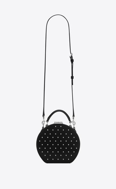 SAINT LAURENT Mini bags Damen MICA Hutboxtasche aus schwarzem Leder mit silberfarbenen Nieten b_V4