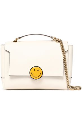 Bathurst Embellished Leather Shoulder Bag by Anya Hindmarch