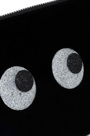 ANYA HINDMARCH Glittered velvet pouch