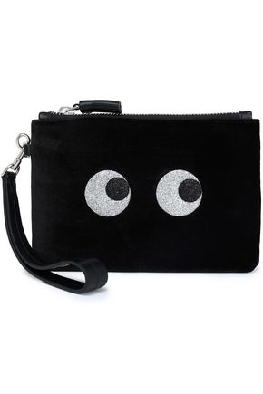 575f4e3400 Anya Hindmarch Glittered Velvet Pouch from THE OUTNET - Styhunt