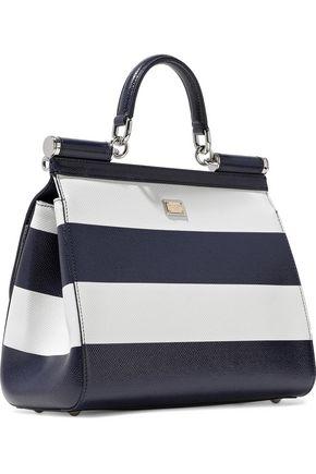 c7ab201dca ... DOLCE   GABBANA Sicily striped textured-leather shoulder bag