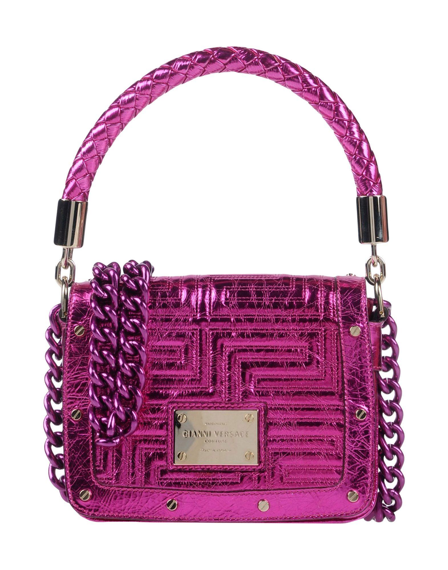GIANNI VERSACE Handbag in Fuchsia