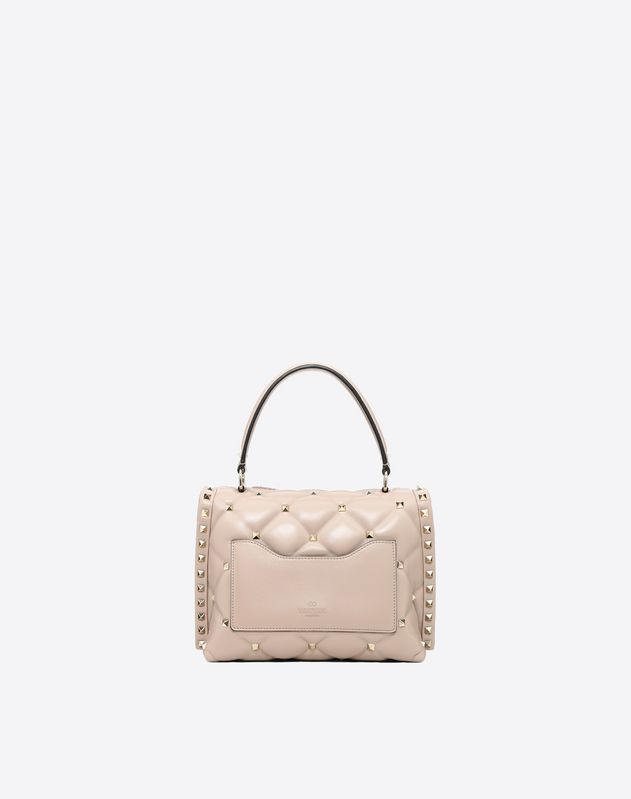 Embroidered Candystud Top Handle Bag