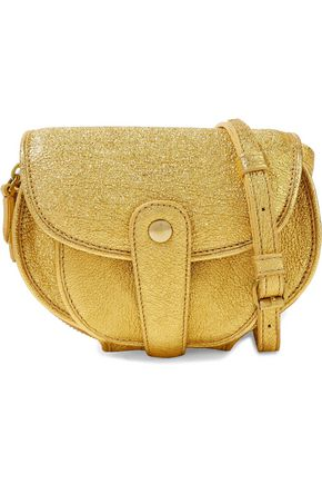 JÉRÔME DREYFUSS Metallic cracked-leather shoulder bag