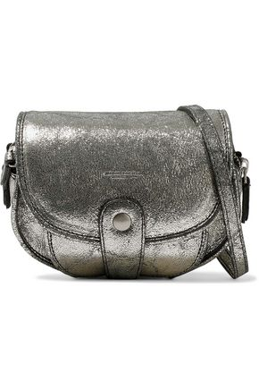 JÉRÔME DREYFUSS Momo metallic cracked-leather shoulder bag