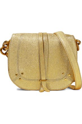 JÉRÔME DREYFUSS Metallic textured-leather shoulder bag