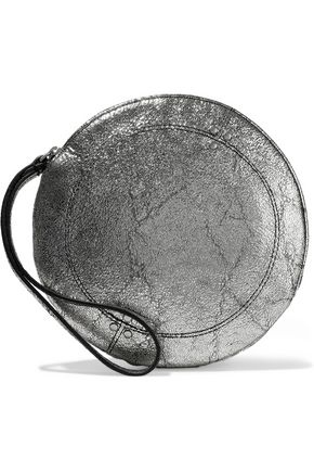 JÉRÔME DREYFUSS Metallic cracked-leather clutch