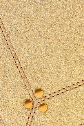 JÉRÔME DREYFUSS Popoche metallic textured-leather pouch
