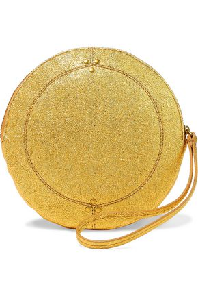 JÉRÔME DREYFUSS Metallic textured-leather clutch