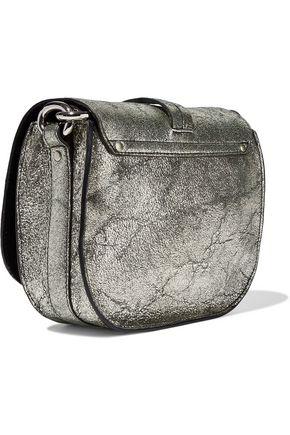 JÉRÔME DREYFUSS Victor metallic cracked-leather shoulder bag