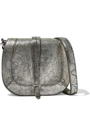 JÉRÔME DREYFUSS Victor metallic cracked-leather shoulder bag