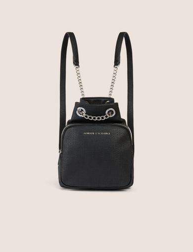 CHAIN DETAIL MINI BUCKET BACKPACK