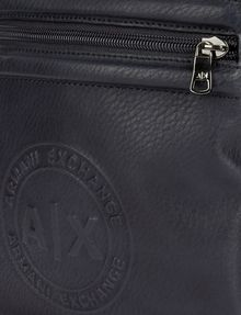 ARMANI EXCHANGE FAUX LEATHER CIRCLE LOGO MINI CROSSBODY Crossbody bag Man a