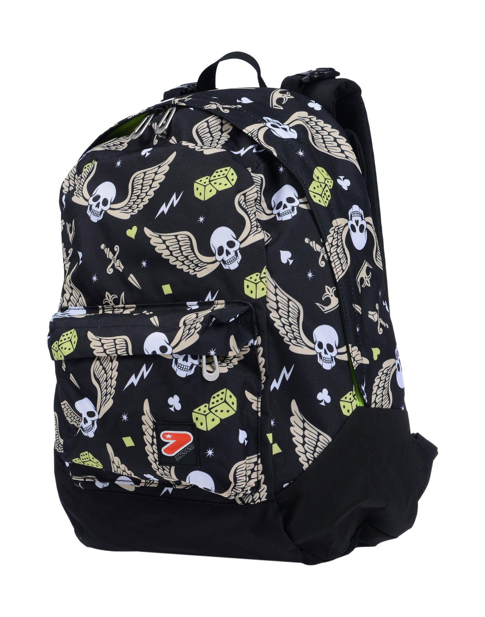 《送料無料》SEVEN ボーイズ 3-8 歳 バックパック&ヒップバッグ ブラック 紡績繊維