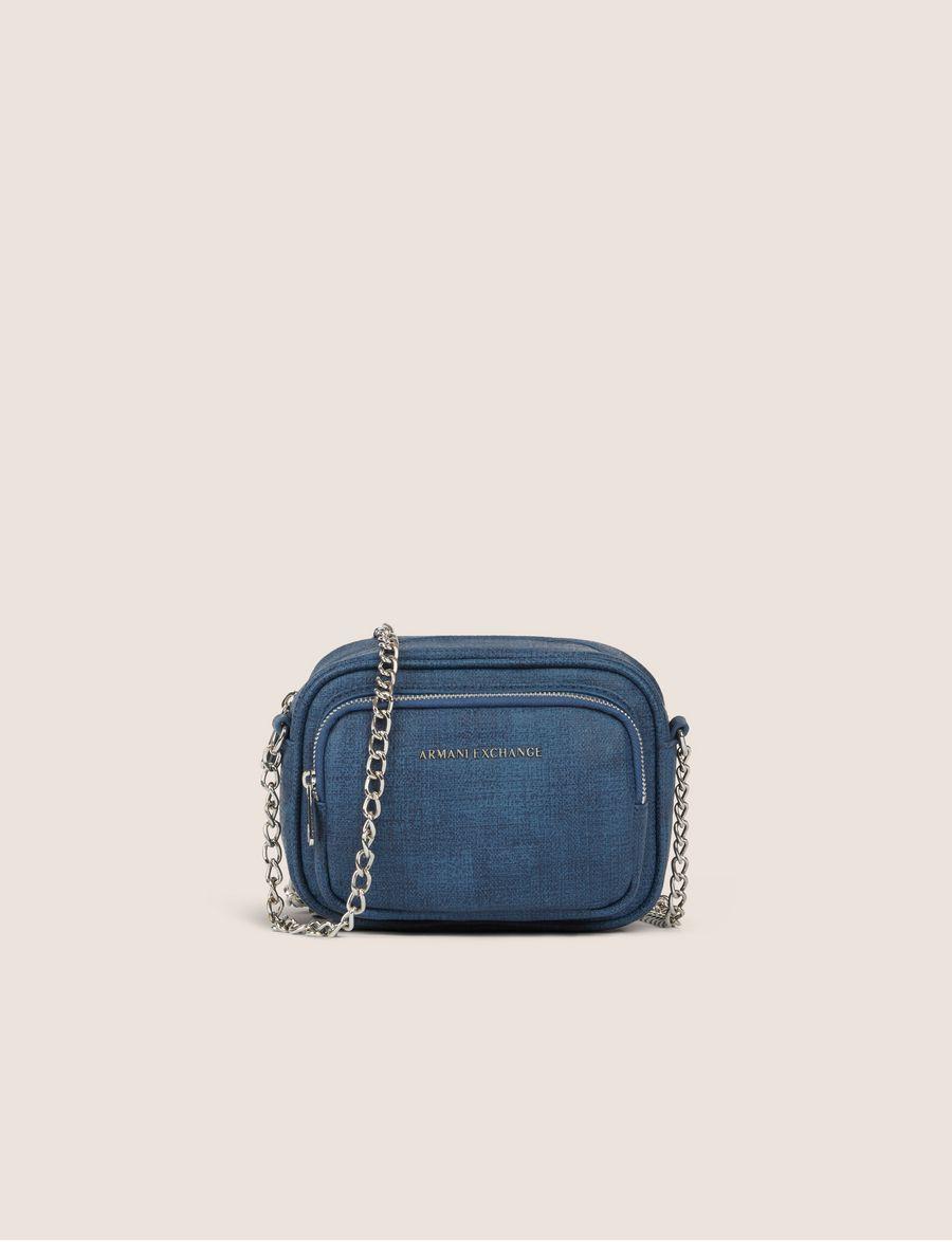 Armani Exchange DOUBLE ZIP BOXY CROSSBODY , Crossbody Bag for Women   A X  Online Store e4cb46b567