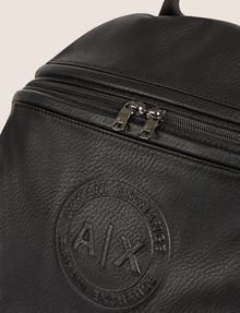 ARMANI EXCHANGE FAUX LEATHER CIRCLE LOGO BACKPACK Backpack Man a