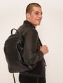 ARMANI EXCHANGE FAUX LEATHER CIRCLE LOGO BACKPACK Backpack Man r