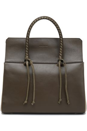 ELENA GHISELLINI Braid-trimmed leather shoulder bag