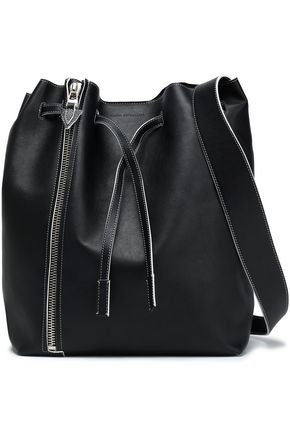 ELENA GHISELLINI Zipper-detailed leather bucket bag