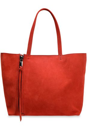 ELENA GHISELLINI Zipper-detailed suede tote