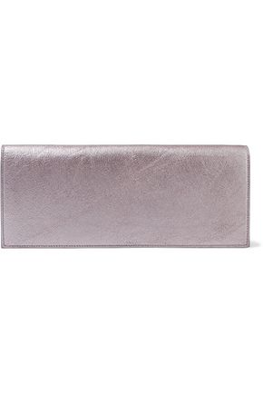 RICK OWENS Metallic textured-leather clutch