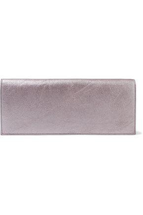 RICK OWENS Metallic textured-leather clutch
