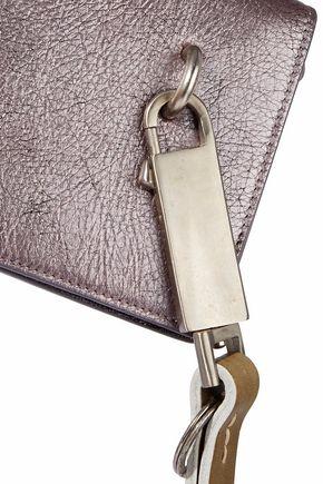 RICK OWENS Metallic cracked-leather shoulder bag