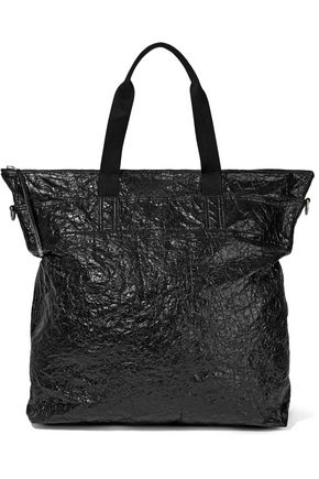 RICK OWENS Crinkled coated cotton-canvas tote