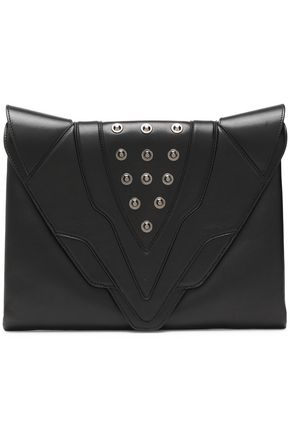 ELENA GHISELLINI Studded leather clutch