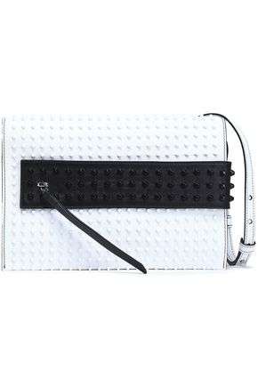 ELENA GHISELLINI Studded two-tone leather shoulder bag