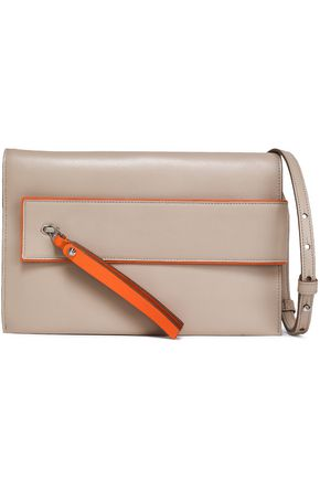 ELENA GHISELLINI Two-tone leather shoulder bag
