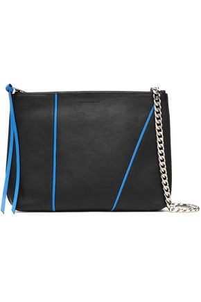 ELENA GHISELLINI Pipe-trimmed leather shoulder bag