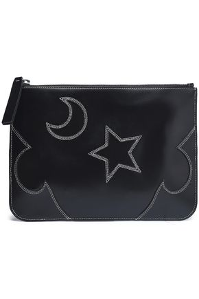 McQ Alexander McQueen Cutout leather pouch