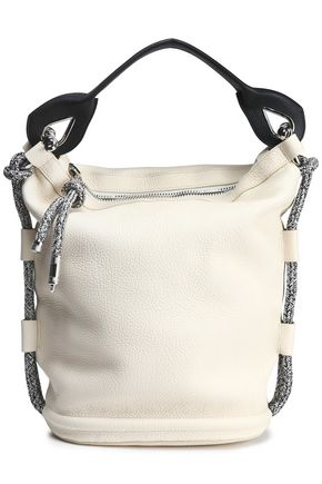 ACNE STUDIOS Bertha large two-tone textured-leather bucket bag