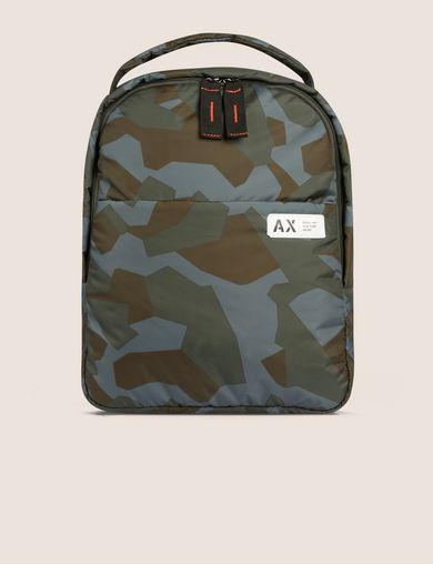 GEO CAMO PADDED BACKPACK