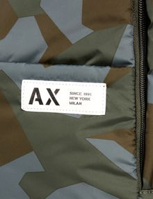 ARMANI EXCHANGE GEO CAMO PADDED BACKPACK Backpack [*** pickupInStoreShippingNotGuaranteed_info ***] a