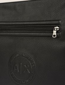 ARMANI EXCHANGE FAUX LEATHER CIRCLE LOGO CROSSBODY Crossbody bag [*** pickupInStoreShippingNotGuaranteed_info ***] a