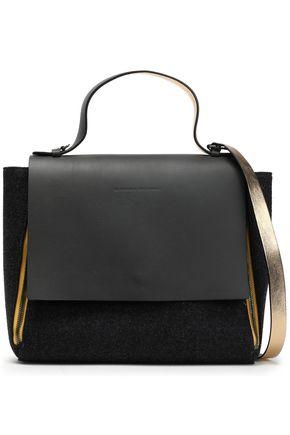BRUNELLO CUCINELLI Metallic two-tone leather shoulder bag