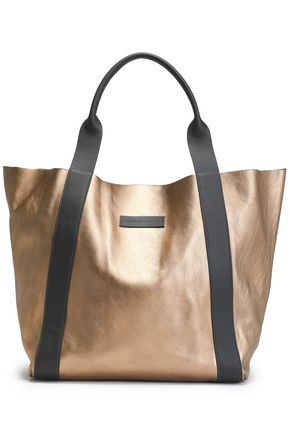 BRUNELLO CUCINELLI Metallic leather tote
