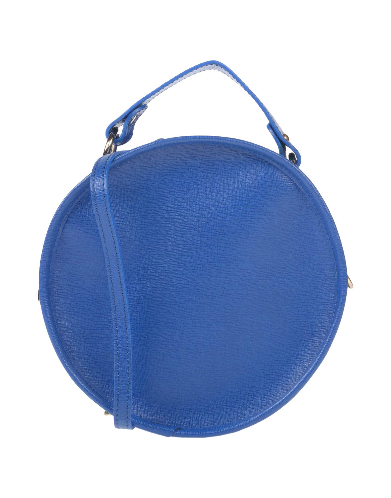 《送料無料》STUDIO MODA レディース ハンドバッグ ブルー 革